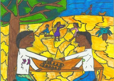 Student artwork submission for the Covid 19 and Me art project
